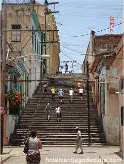 Steps of Padre Pico in Santiago